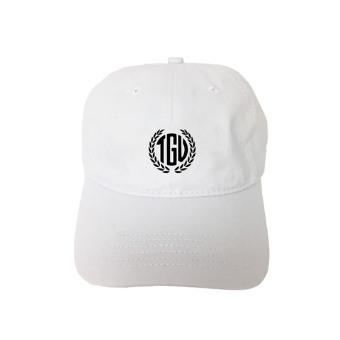 """TGU Wreath"" White Unstructured Hat"