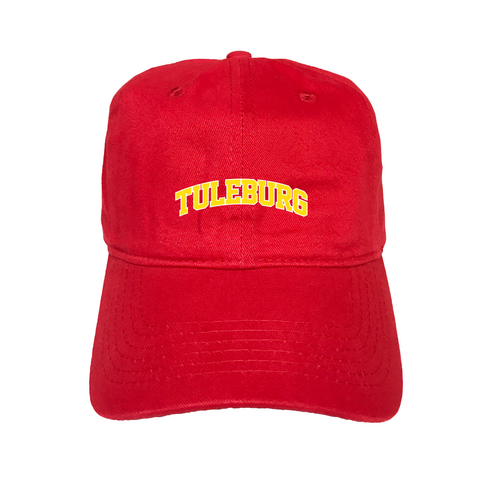 """Tuleburg"" Red Unstructured Hat"