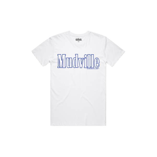 """Mudville"" Royal Outline Tee"