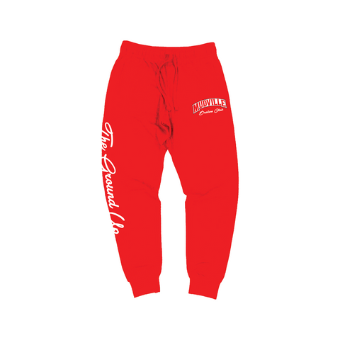 """Dealers Club"" Red Joggers"