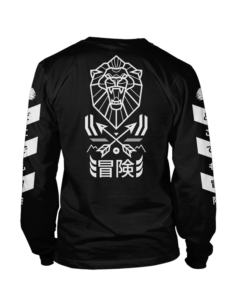 "Mens ""Venture"" Long Sleeved Top Black"