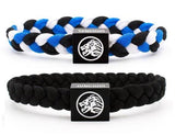 Black / White / Blue & Black Wristband Two Pack
