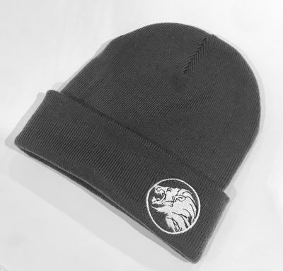 Original Lion Cuffed Beanie Grey