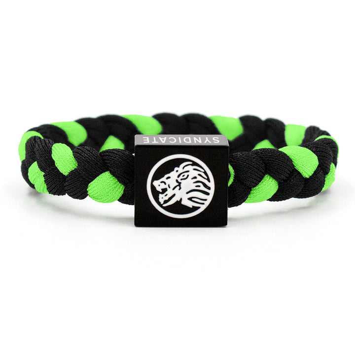 Black / Green Wristband