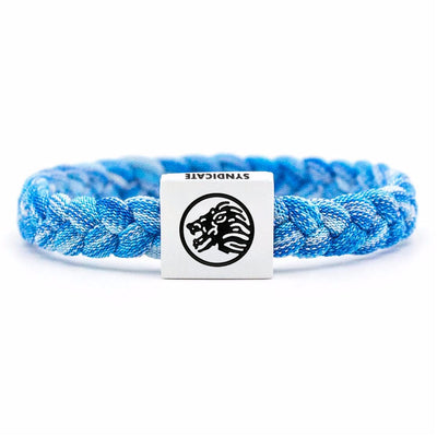 Blue Marl / White Clasp Wristband