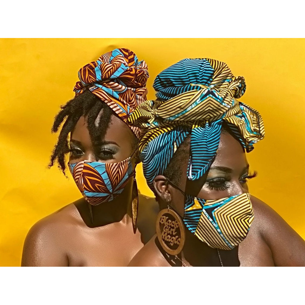 MATCHING HEADWRAPS & FACE MASKS - Lovelee Designs