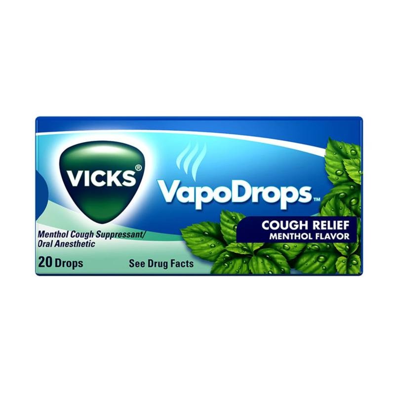 Vapodrops Vicks Cough Relief Menthol Flavor 20 Drops