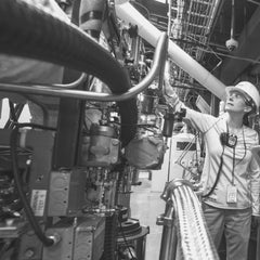 Image of manufacturing shop floor and worker