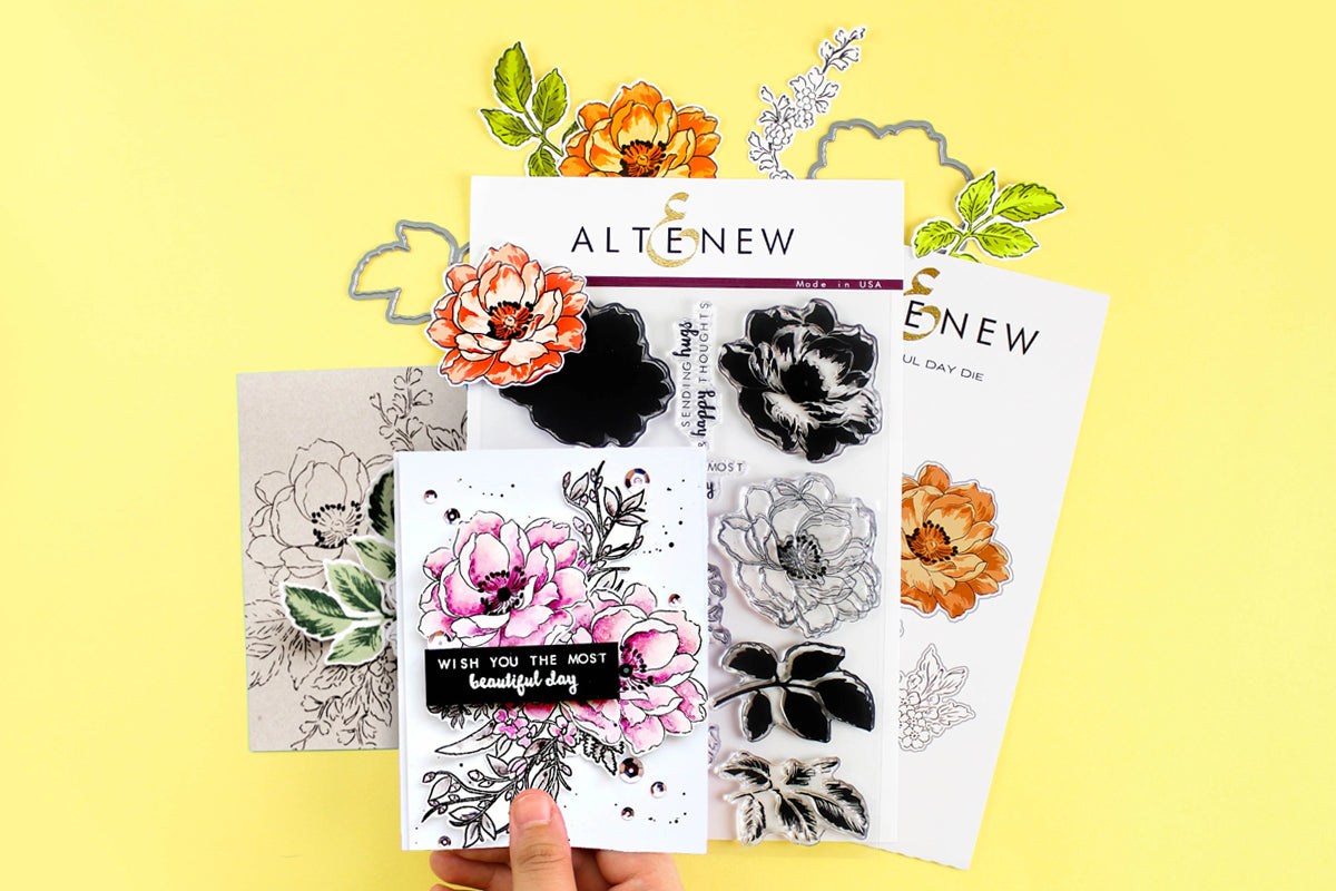 floral stamps by Altenew