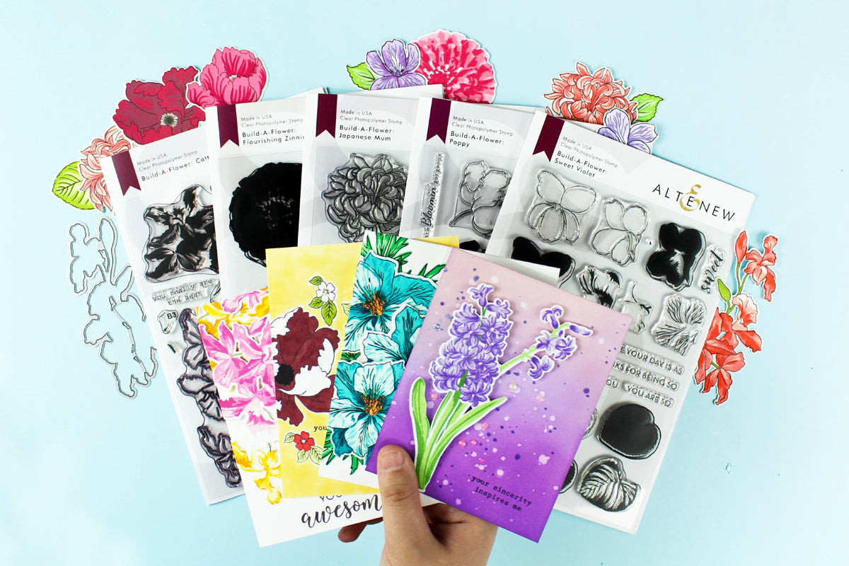 floral layering stamps