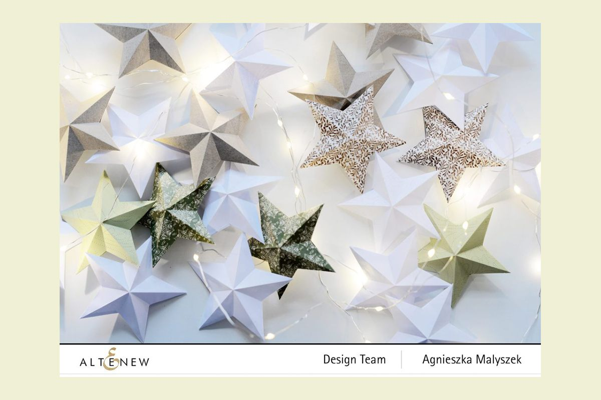 3D star holiday ornaments