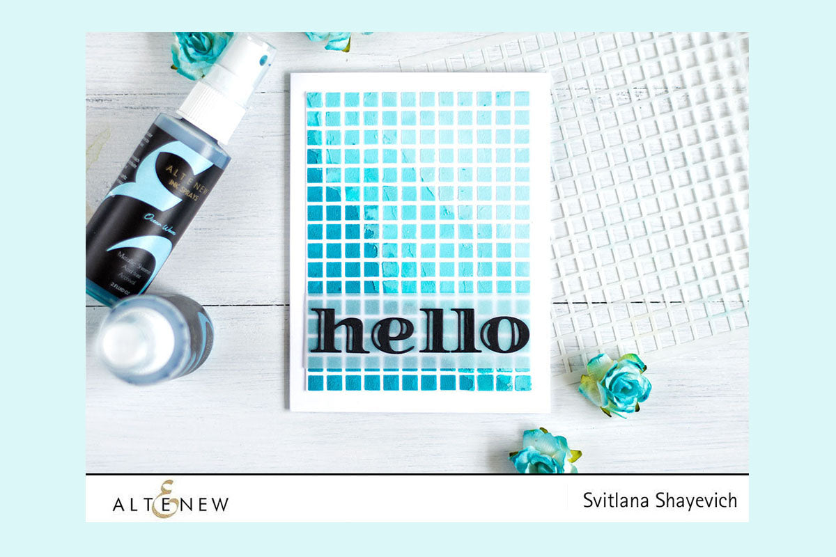 Easy card making idea using stencils and ink sprays