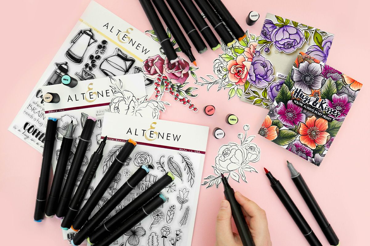 Altenew Artist Markers and stamp sets