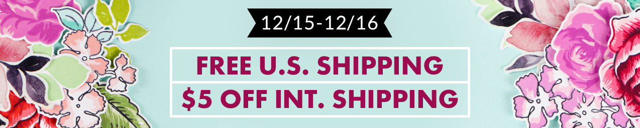 FREE U.S. shipping or $5 OFF international shipping