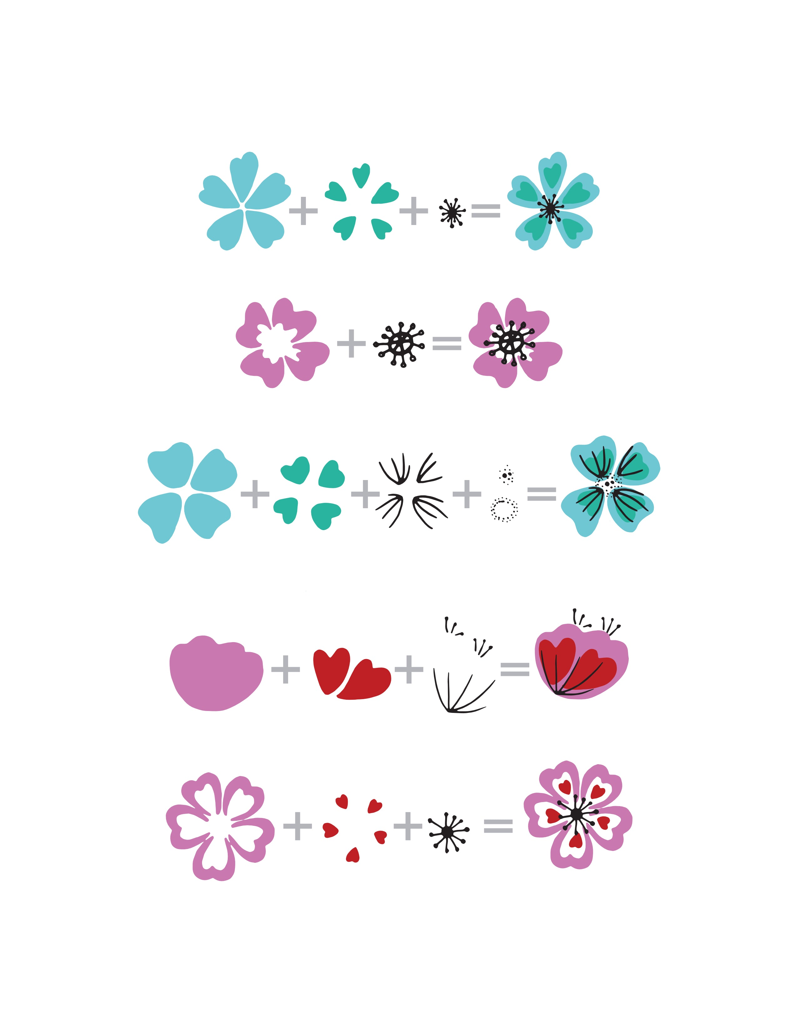 Heart flowers stamp set altenew download heart flowers layering guide mightylinksfo