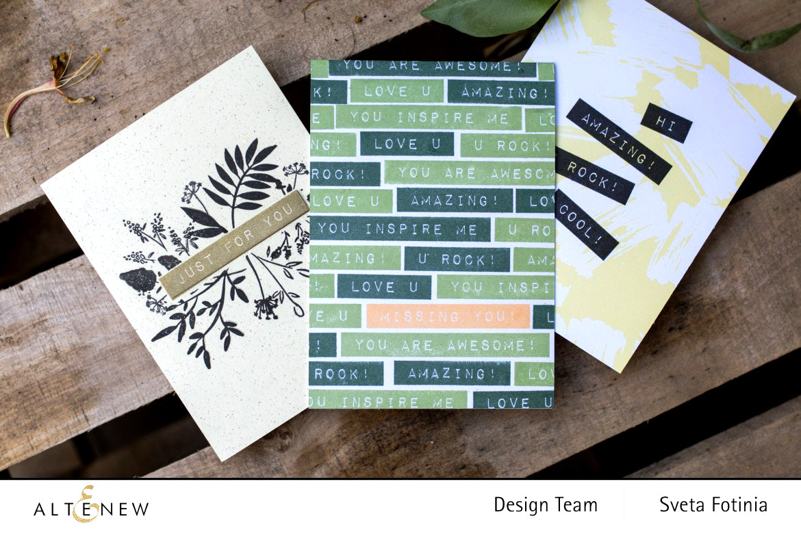 DIY greeting cards made with Altenew Label Love sentiment stamps
