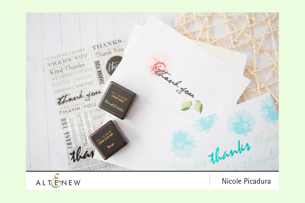 Thank you cards created with Altenew stamps for card making