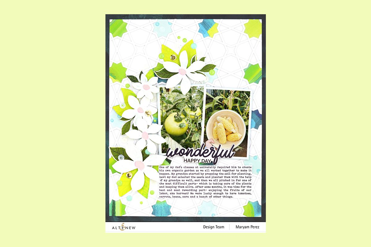 Patterned scrapbooking paper