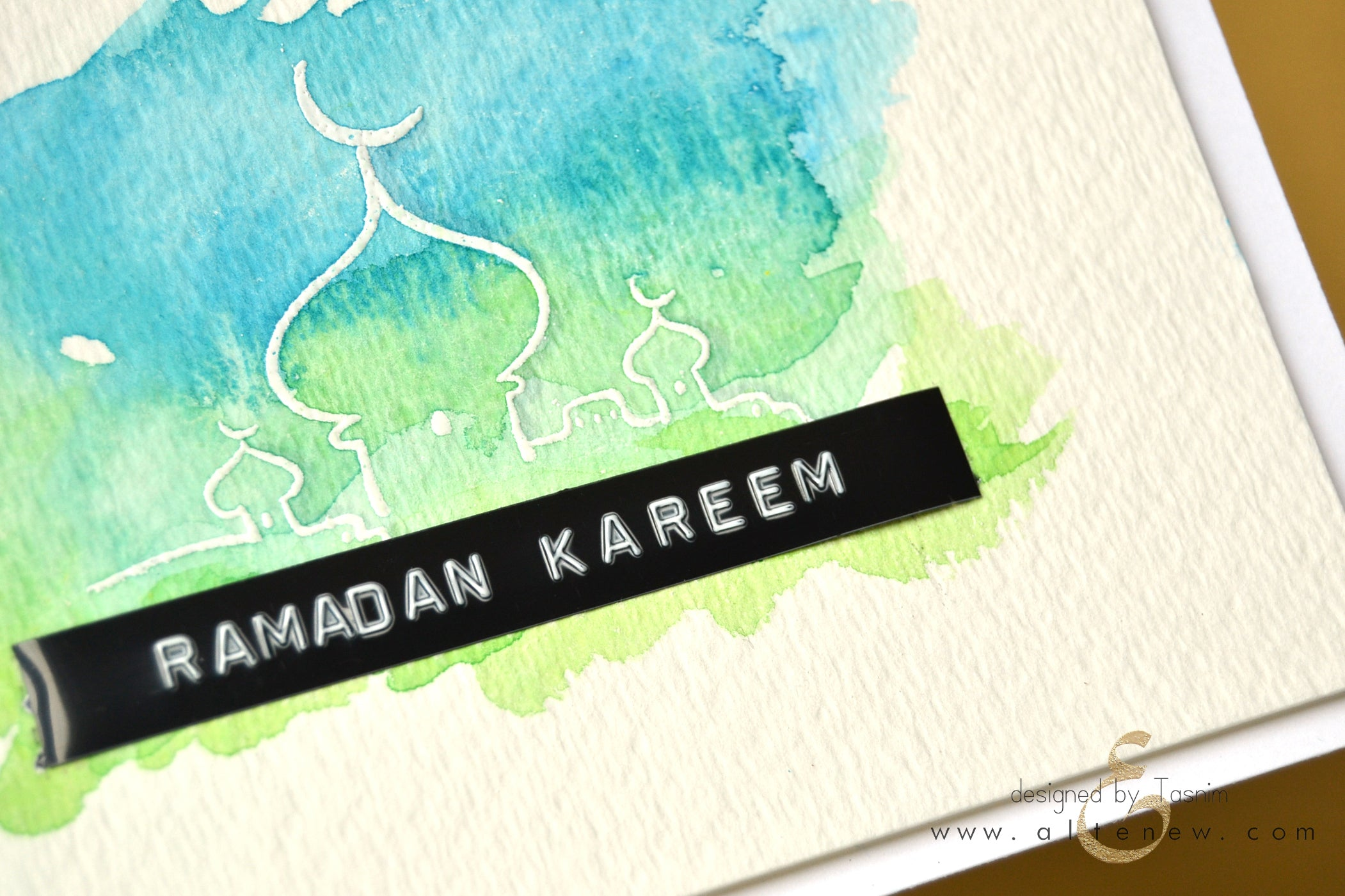 Greetings for end of ramadan image collections greeting card examples focus ramadan greetings eid greetings altenew i started with a very simple card using the emboss kristyandbryce Gallery