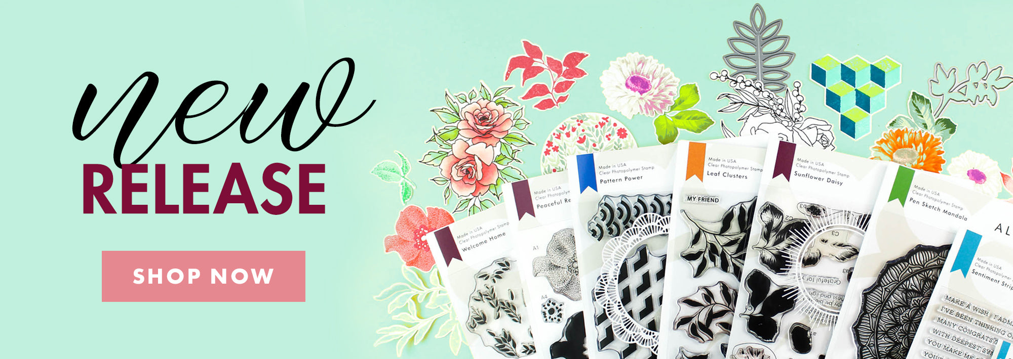 Check out new stamps, dies, and mask stencils from our June 2019 release!