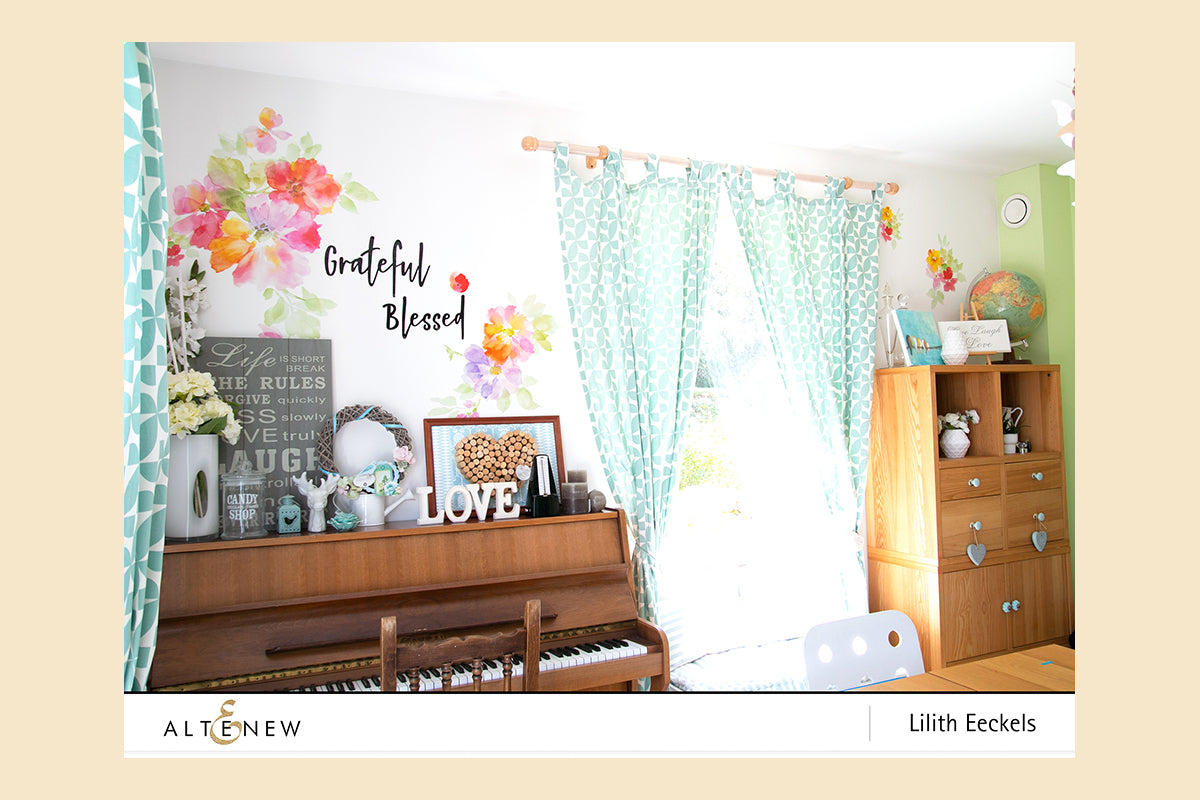 Altenew Watercolor Bliss Wall Decal Set