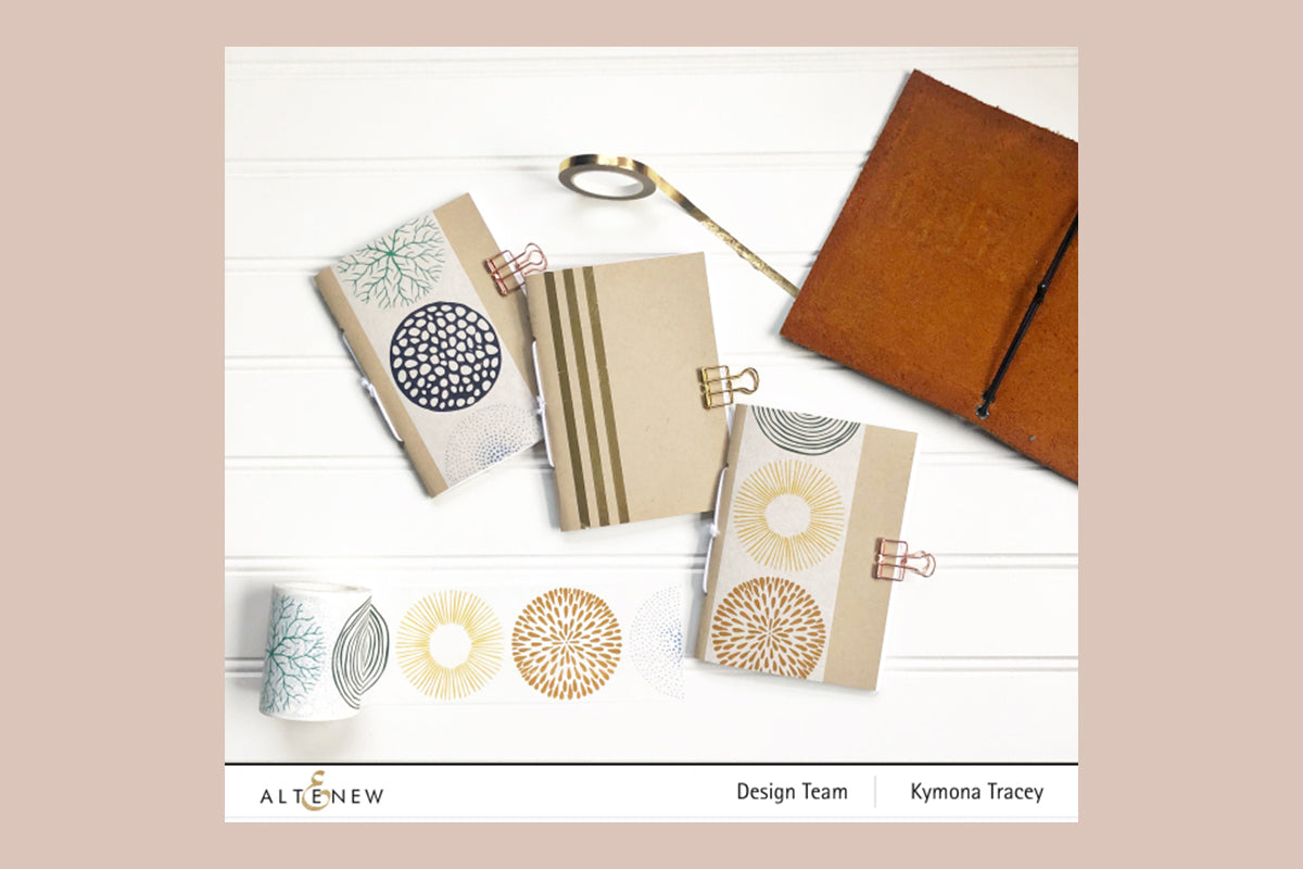 Notebooks decorated with Altenew washi tapes