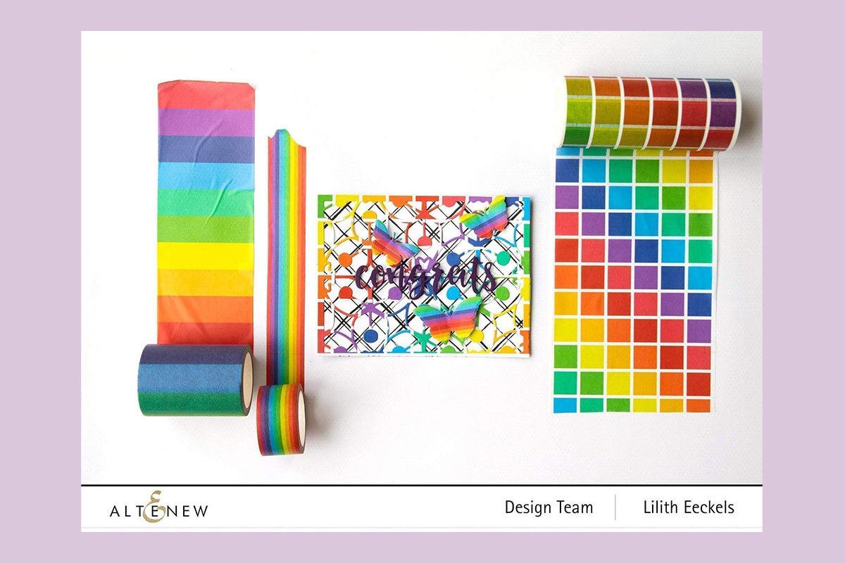 Rainbow colored washi tapes from Altenew