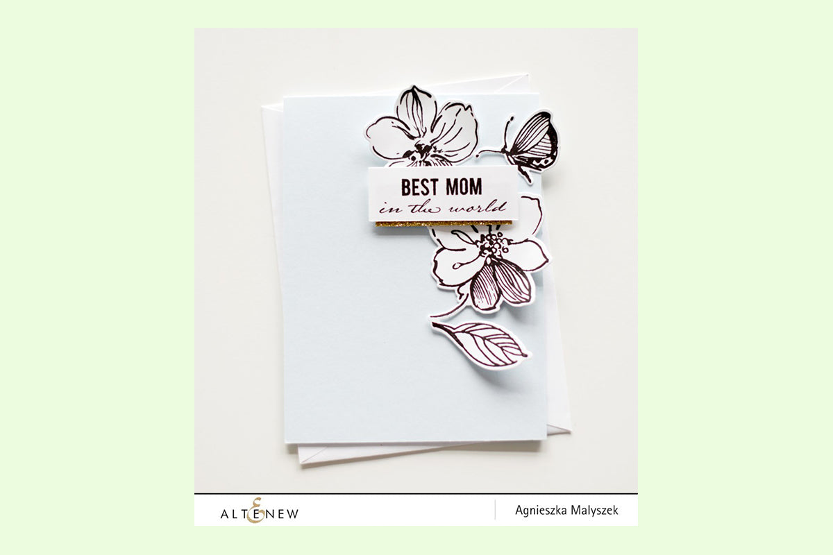 Clean and simple handmade card using Altenew stamps