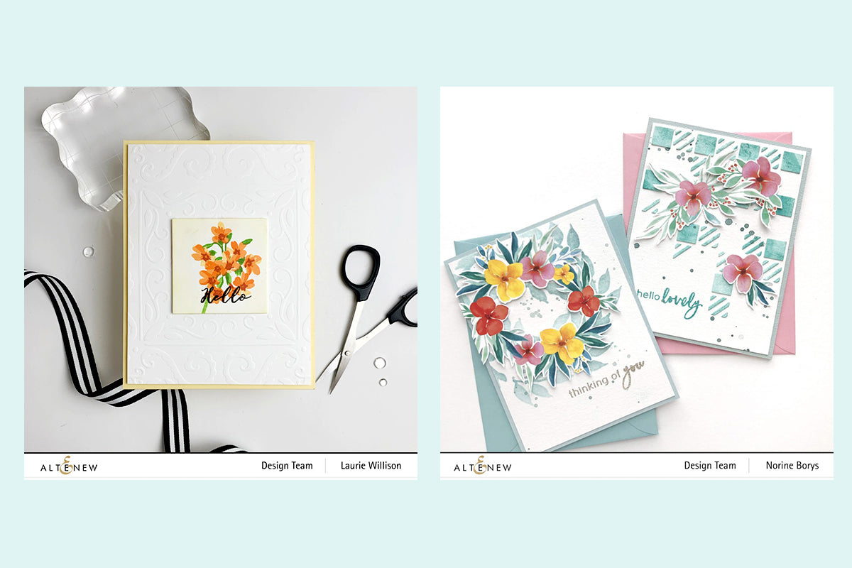 Handmade cards with stencil art