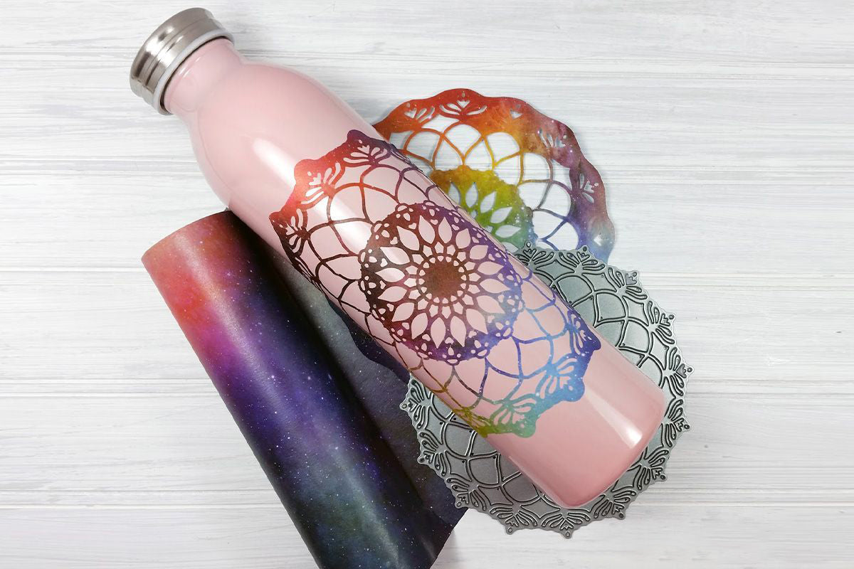 Crafts with washi tape idea using water bottle