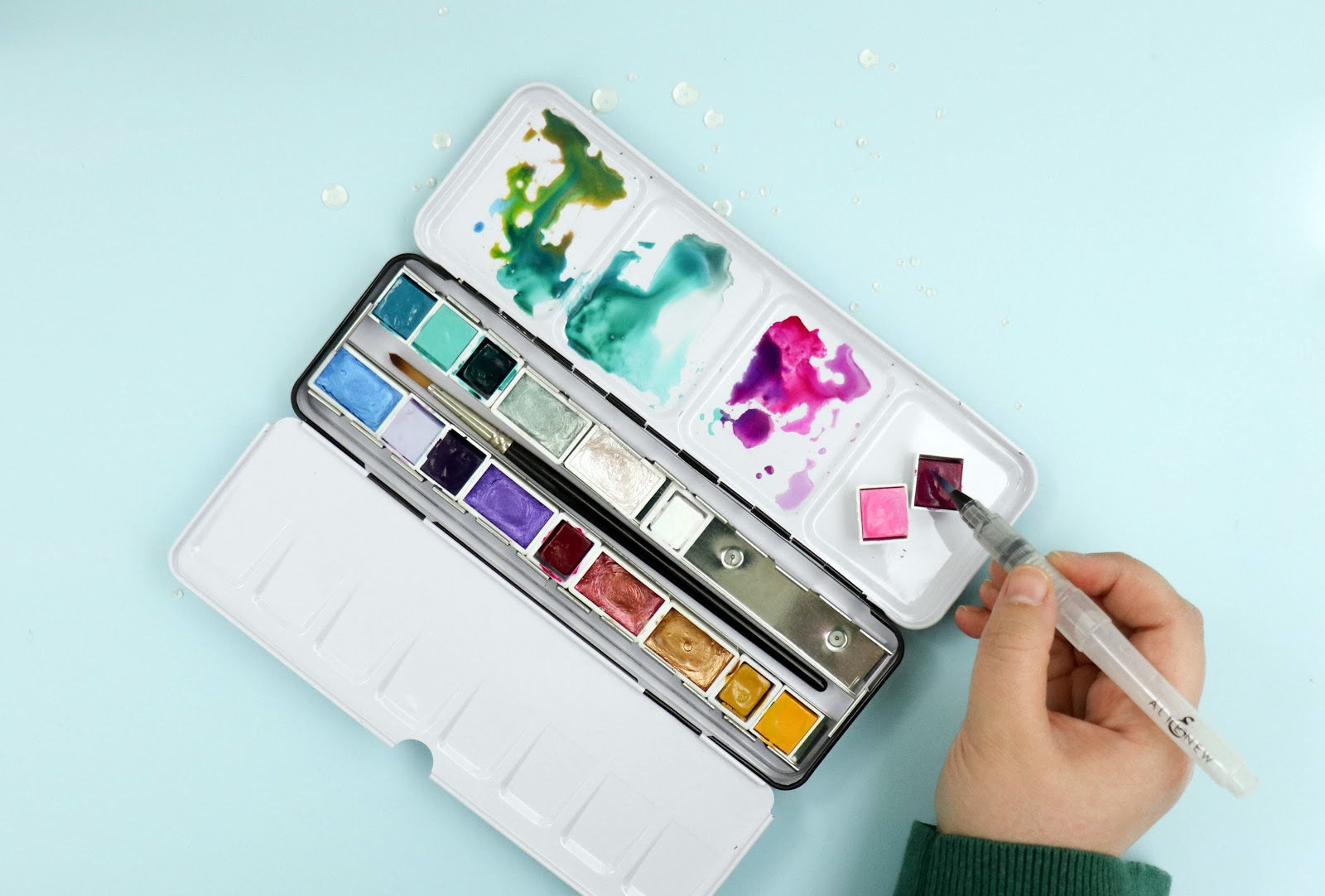 watercoloring with inks