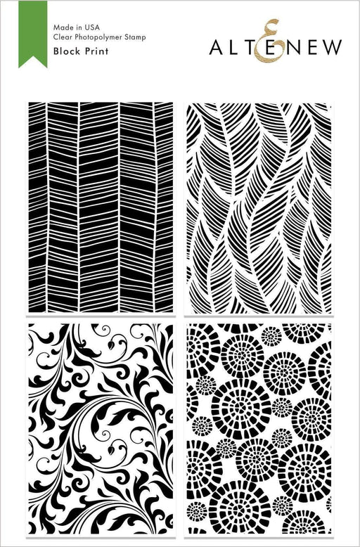 Altenew Clear Stamps Block Print Stamp Set