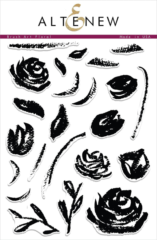 Altenew Clear Stamps Brush Art Floral Stamp Set