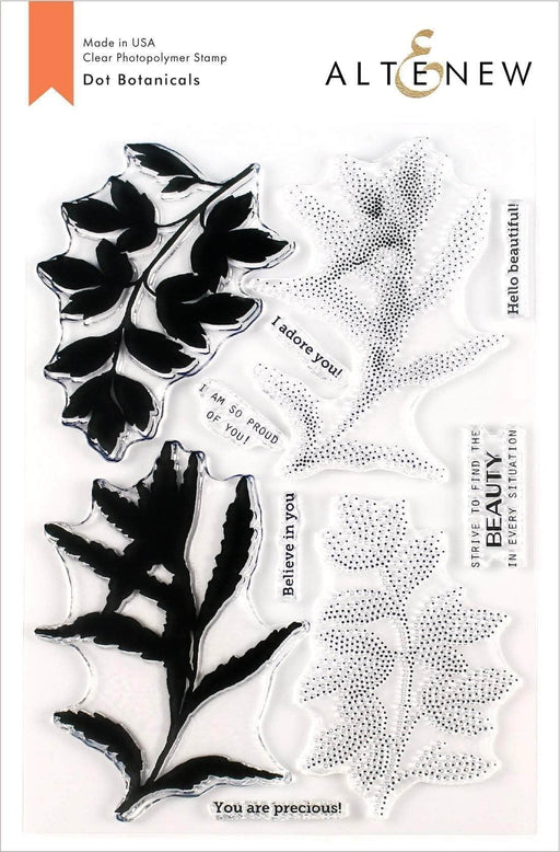 Altenew Clear Stamps Dot Botanicals Stamp Set
