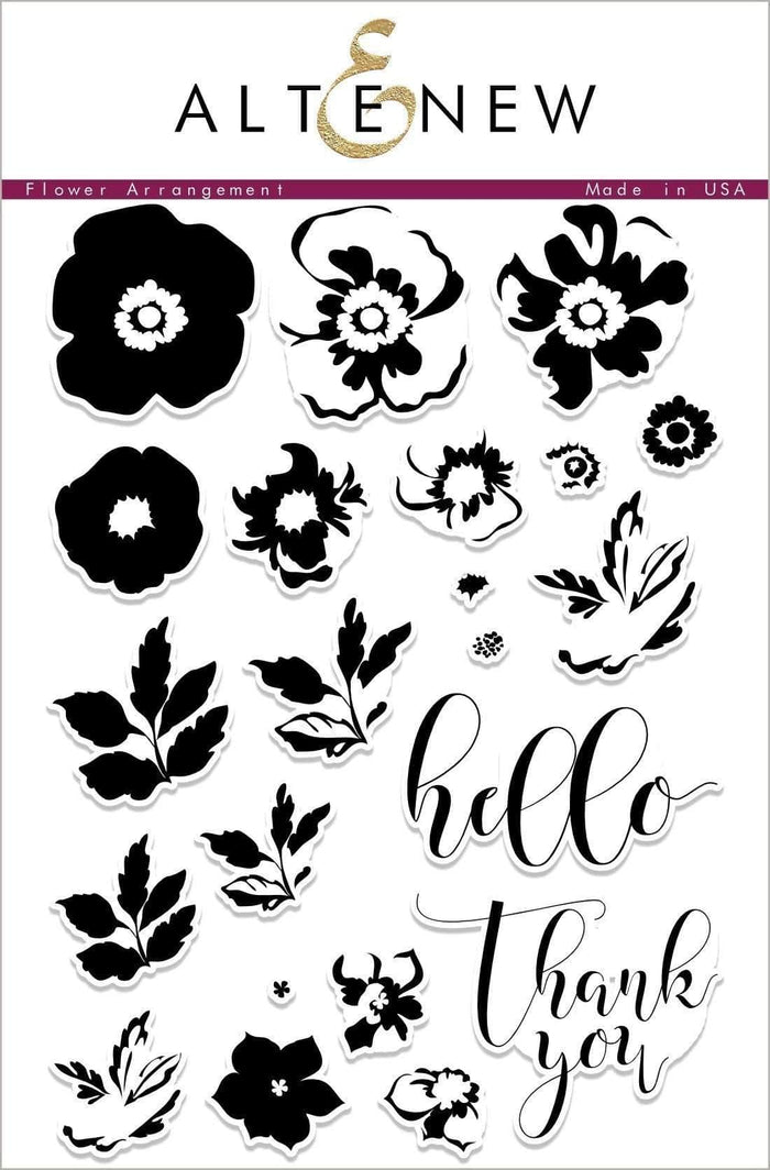 Altenew Clear Stamps Flower Arrangement Stamp Set
