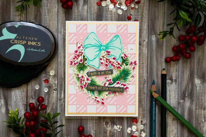Altenew Clear Stamps Holiday Bow Stamp Set