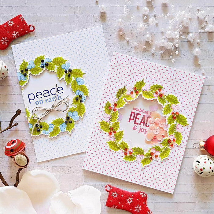 Altenew Clear Stamps Peaceful Wreath Stamp Set