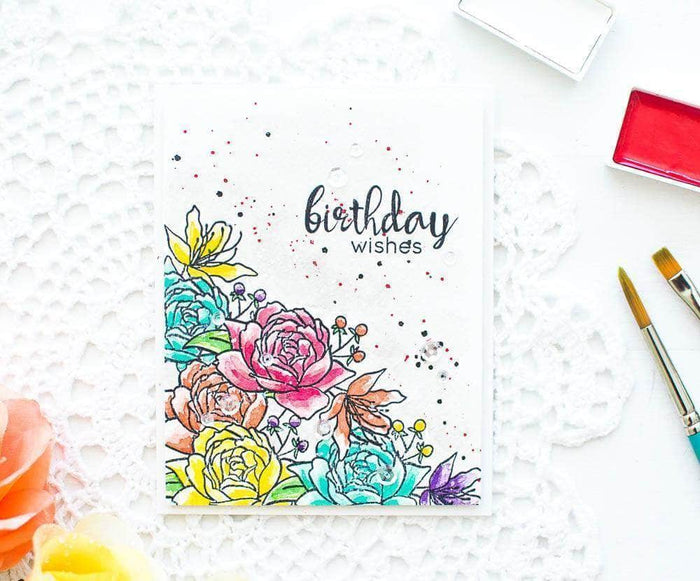 Altenew Clear Stamps Ultimate Floral Script Collection