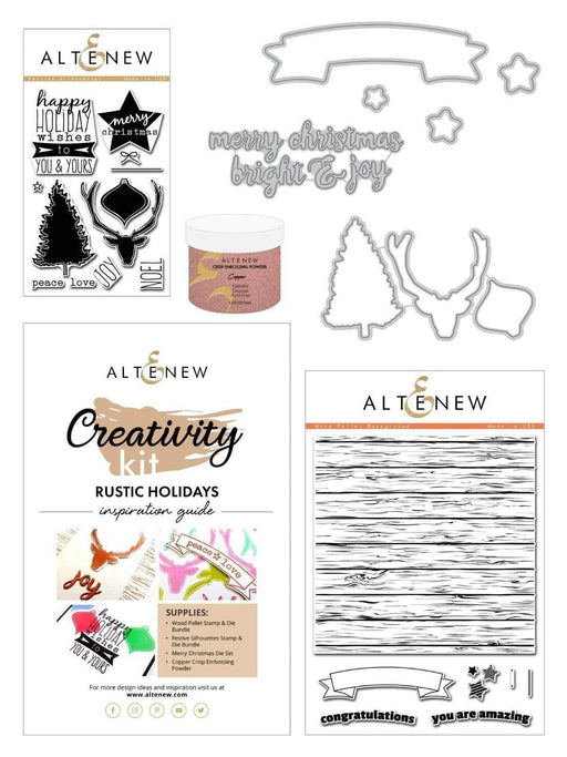 Altenew Creativity Kit Bundle Rustic Holidays Creativity Kit