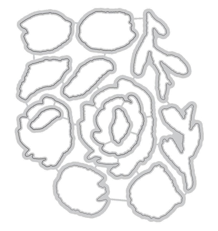 Altenew Dies Brush Art Floral Die Set