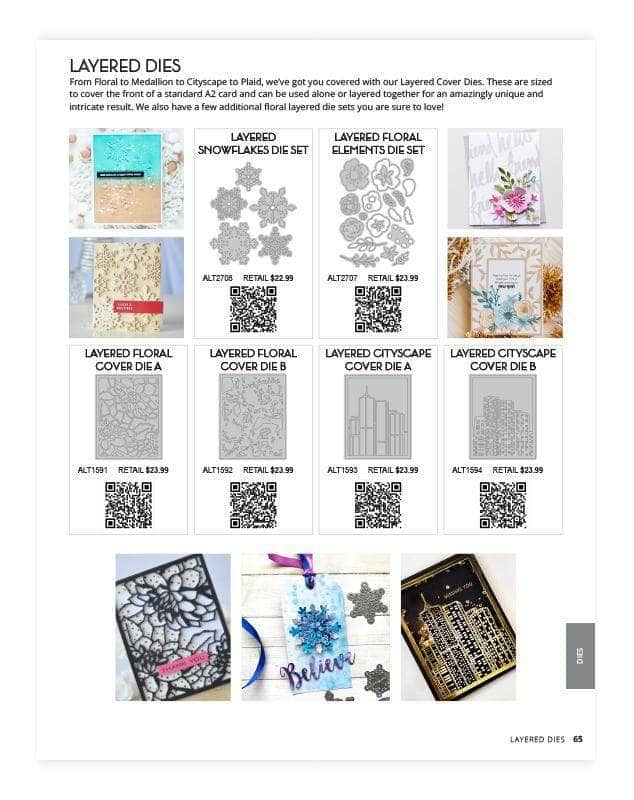 Altenew Printed Media Winter 2019 Catalog
