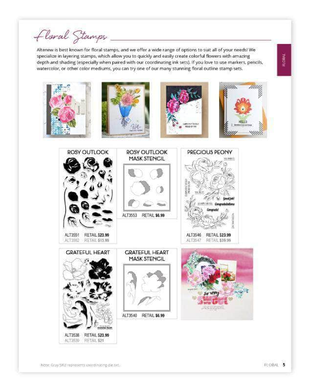 Altenew Printed Media Winter 2020 Catalog