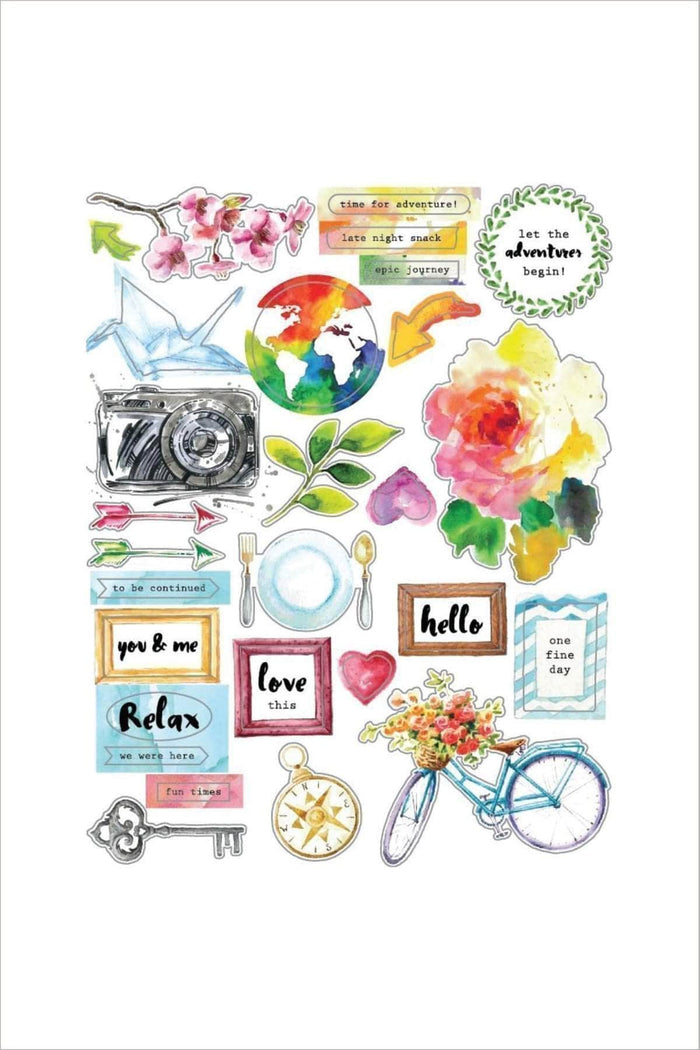Altenew Scrapbook Reflection Collection Chipboard Sticker Sheet