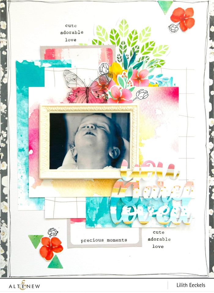 Altenew Scrapbook Reflection Collection White Decorative Frames
