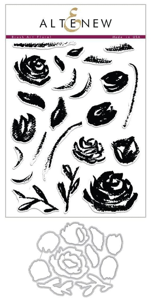 Altenew Stamp & Die Bundle Brush Art Floral Stamp & Die Bundle