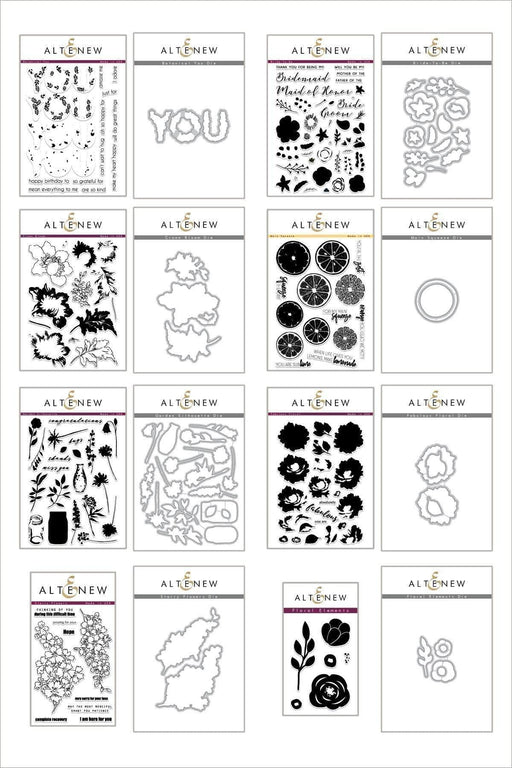 Altenew Stamp & Die Bundle Fruits & Florals Stamp & Die Bundle