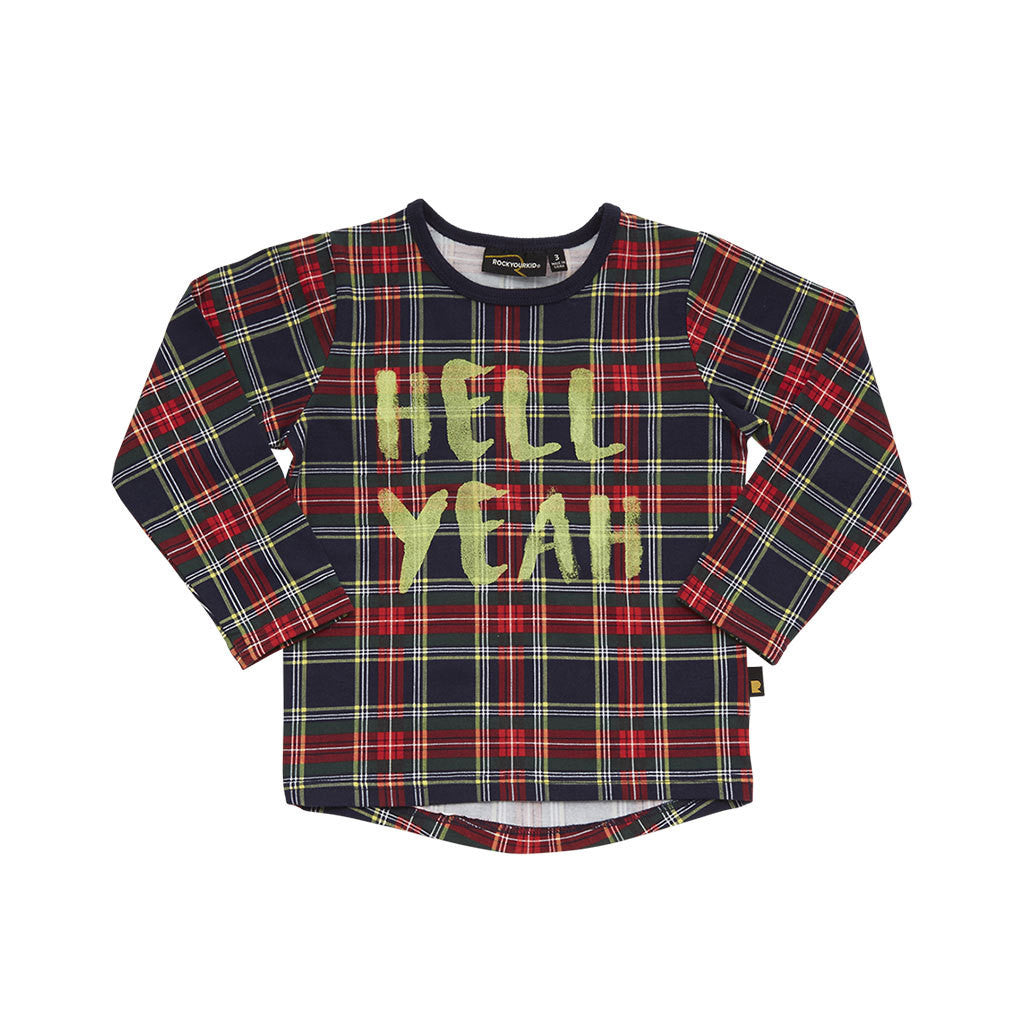 Rock Your Kid Hell Yeah Longsleeve Tee - Quel Fashion Clearance Outlet