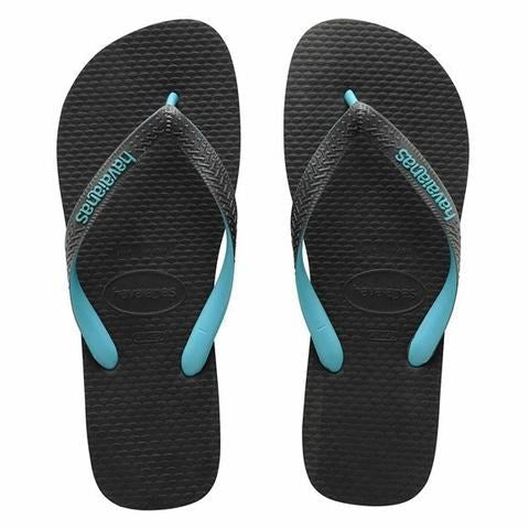 Havaianas Kids Rubber Logo Mix Grey/Turquoise Toddler
