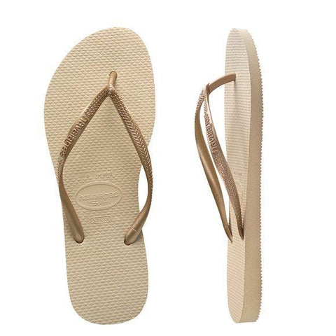 Havaianas Kids Slim Metallic Sand Grey/Light Golden Kids