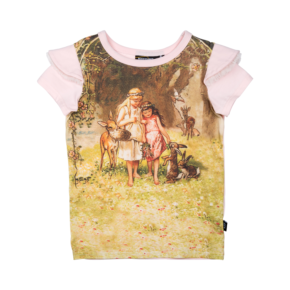 Rock Your Baby Woodlands SS T-Shirt Pink